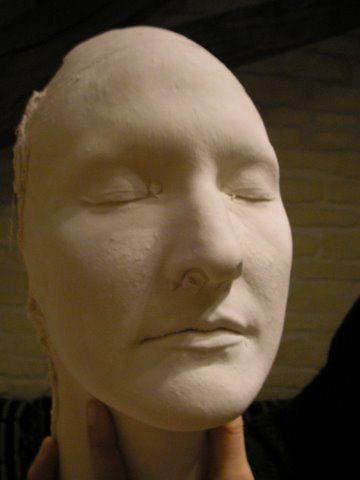 Moulage platre visage